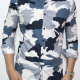 Camasa - camasa slim fit camasa army camasa barbat cod 104 - Camasa barbati, Marime: XXL, Culoare: Din imagine, Maneca lunga