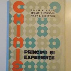 PRINCIPII SI EXPERIENTE de JOHN A PAGE, EDWARD A ROBINSON, MARY E BRERETON, 1973 - Carte Chimie