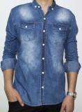 Camasa de blugi - camasa slim fit camasa blugi camasa barbat cod 106, L, S, Maneca lunga, Din imagine