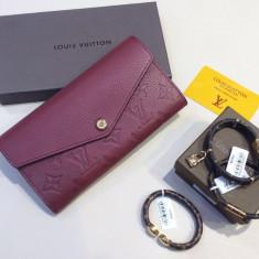 Portofele Louis Vuitton Wallet Sarah Collection Piele Naturala * Cutie * - Portofel Dama Louis Vuitton, Culoare: Din imagine, Cu inchizatoare
