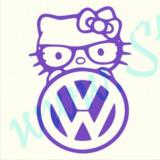 Volkswagen Logo Hello Kitty_Tuning Auto_Cod: CST-266_Dim: 30 cm. x 21 cm.