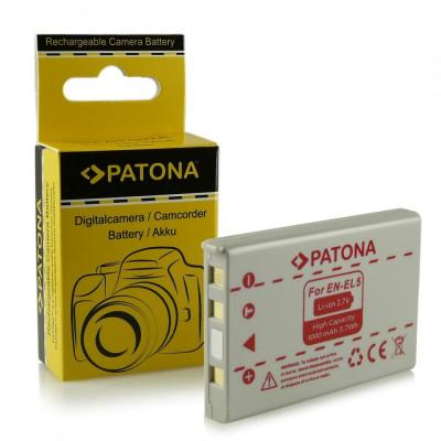 Acumulator Nikon EN-EL5, 3700, 4200, 5200, 5900, 7900, compatibil marca Patona, foto