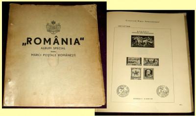 1939 Primul Album filatelic romanesc girat de George Matheescu Sinaia foto