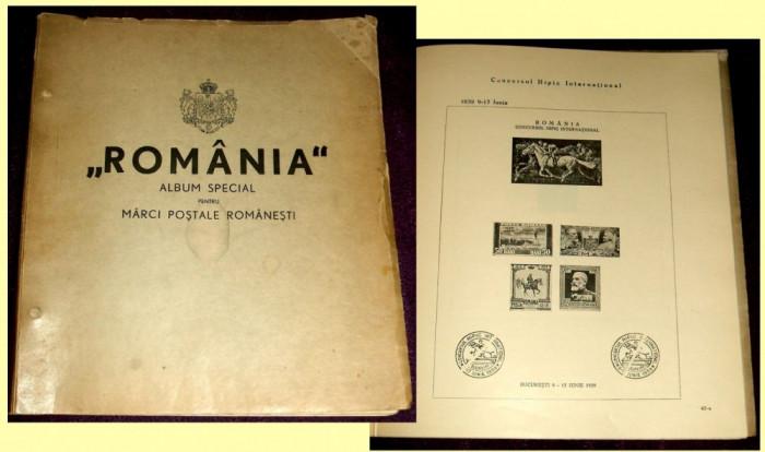 1939 Primul Album filatelic romanesc girat de George Matheescu Sinaia foto mare