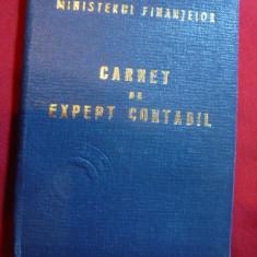 Carnet de Expert Contabil 1967 - Diploma/Certificat