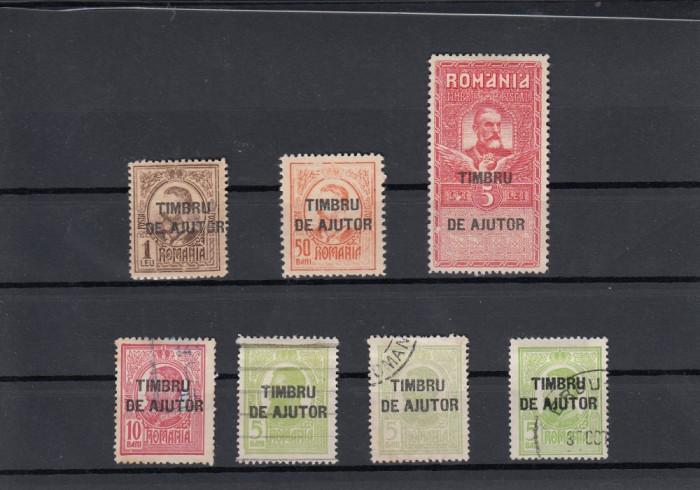 ROMANIA 1915 , TIMBRE DE AJUTOR  SUPRATIPAR LOT MIXT foto mare