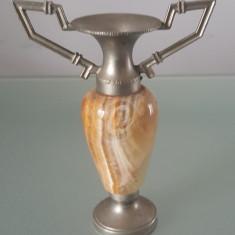 Sfesnic cositor cu onix/marmura, 12 cm - Arta din Metal