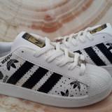 Adidasi Adidas Superstar Dama Barbati LOGO - Adidasi dama, Culoare: Alb, Marime: 36, 37, 38, 39, 40, Piele sintetica