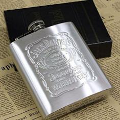 Sticla Jack Daniel's inox de buzunar flask butelca 7 OZ 200ml