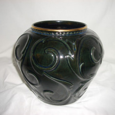 Vaza ceramica glazurata, Art Deco, colectie, cadou, vintage - Vaza si suport flori