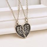 Best Friends, Lantisor, Fashion, BFF, Colier, Cadou, 2 bucati, Argintiu mod16 - Pandantiv fashion