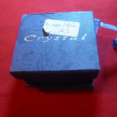Cutie pt. bijuterii marca Crystal . dim. = 6, 3x5, 8 cm - Cutie Bijuterii