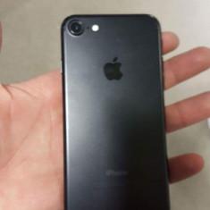 IPhone 7 32GB Black, folie de sticla, husa, incarcator, casti, cutie - Telefon iPhone Apple, Negru