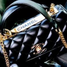 GENTI FIRMA /LOGO AURIU/EDITIE LIMITATA/ /CALITATE SUPERIOARA/FRANTA - Geanta Dama Chanel, Culoare: Negru, Marime: One size