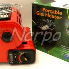 Aragaz portabil si incalzitor ca arzator ceramica cu gaz