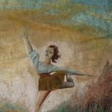 Tablou vechi - Pictura veche Balerina - Perioada interbelica - Tablou autor neidentificat, Scene gen, Ulei, Altul
