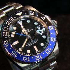 Ceas de mana Rolex GMT Black Blue Batman - Ceas barbatesc Rolex, Elegant, Mecanic-Automatic, Otel, Analog