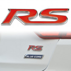 2 x Emblema pentru masina auto pentru RS audi metal adeziv inclus - Embleme auto, Universal