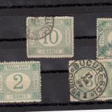 ROMANIA 1887, TAXA DE PLATA SERIE MIXTA - Timbre Romania, Stampilat