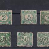 ROMANIA 1896, TAXA DE PLATA SERIE MIXTA - Timbre Romania, Stampilat
