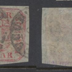 RFL Principatele Unite timbru de 6 parale 1862 stampilat - Timbre Romania, Nestampilat
