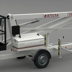 Nacela de lucru la inaltime 12 m - tractabila - Matilsa Parma 12 - Utilitare auto