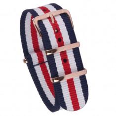 Curea ceas NATO Franta Curea ceas textila 18mm 20mm 22mm - Curea ceas material textil
