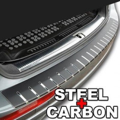 Protectie portbagaj, Crom + Carbon NEGRU - Ornament Auto