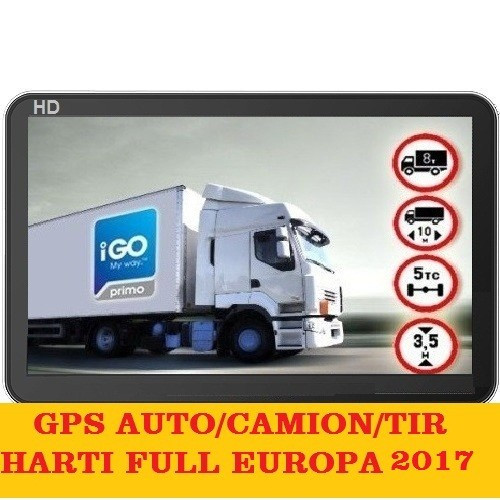 "GPS Navigatie ecran 7""APARATE GPS AUTO,GPS TIR GPS CAMION HARTI FULL EUROPA 2017 foto mare"