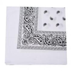 Bandana floral - alb - Bandana Barbati