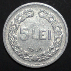 5 lei 1949 8 - Moneda Romania