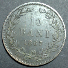 10 bani 1867 2 Heaton - Moneda Romania