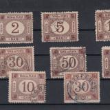 ROMANIA 1881 SI ROMANIA 1885, TAXA DE PLATA SERII MIXTE - Timbre Romania, Stampilat