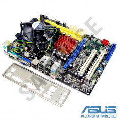 KIT Placa de baza Asus P5KPL-AM + Intel Core 2 Duo E8400 3GHz + Cooler Intel, Pentru INTEL, LGA775, DDR2, Contine procesor, MicroATX