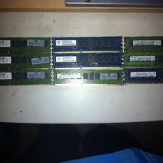 Vand un lot de 9 memorii DDR3, 2Gb server(ECC) sau schimb cu DDR3 laptop - Memorie server Samsung