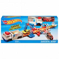 Jucarie Pista Hot Wheels Daredevil Derby DWK84 Mattel - Masinuta
