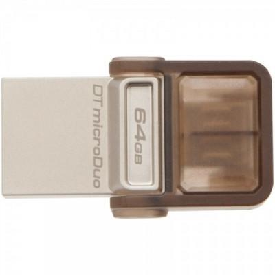 Stick Memorie USB Kingston DataTraveler microDuo 64GB maro foto