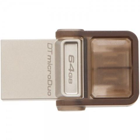 Stick Memorie USB Kingston DataTraveler microDuo 64GB maro foto mare