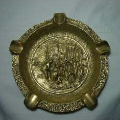 Scrumiera trabuc bronz masiv, colectie cadou, vintage