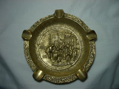 Scrumiera trabuc bronz masiv, colectie cadou, vintage foto