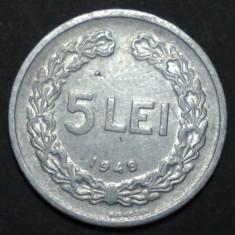 5 lei 1949 10 aUNC - Moneda Romania