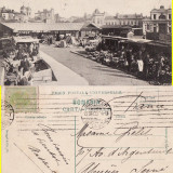 Bucuresti - Piata mare-rara - Carte Postala Muntenia 1904-1918, Circulata, Printata