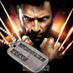 Dog Tag Inox military armata X-men Wolverine Logan - Pandantiv inox