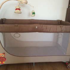 Patut pliabil - KinderKraft JOY - Patut pliant bebelusi Kinderkraft, 120x60cm, Maro