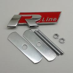Emblema metal auto pt grila rline R line metalica kit prindere inclus - Embleme auto, Bmw