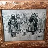 "Tablou / Schita vechi - "" Maicute "" -Pictor rus neidentificat - Tablou autor neidentificat, Scene gen, Ulei, Altul"