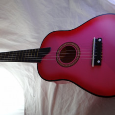 Chitara mica pentru copii de 3-6 ani roz