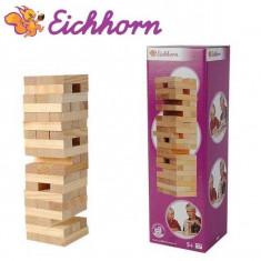 Jucarie Joc Jenga cu piese din lemn Eichhorn