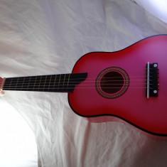 Chitara medie roz pentru copii de 5-8ani