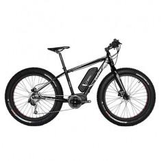 Bicicleta electrica pe nisip, teren accidentatZT-88 FAT E-Bike, 26 inch, 20 inch, Numar viteze: 9, Aluminiu, Negru